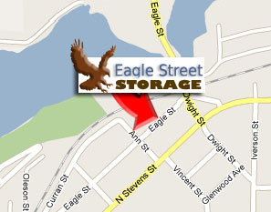 Rhinelander WI storage rentals map for Eagle Street Storage location